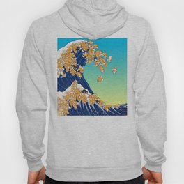 Shiba Inu in Great Wave Hoody