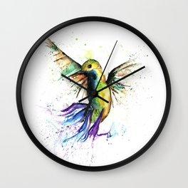 Humming Bird - Ribbons Wall Clock