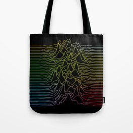 rainbow illustration - sound wave graphic Tote Bag