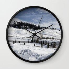 Carol M Highsmith - Snow Covered Hills Wall Clock