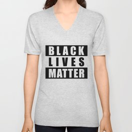 Black Lives Matter Logo, BLM Logo Block Letters, BLM, Extra Large Super Sharp Graphic 4X3 JPG Unisex V-Neck