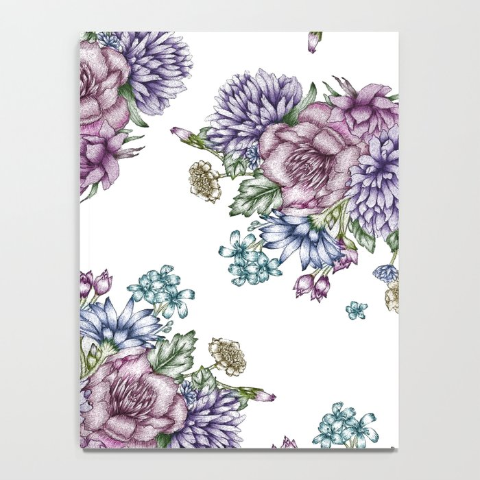 Vintage Flowers Notebook