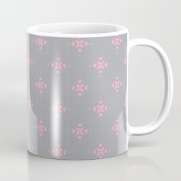 Ornamental Pattern with Grey and Pink Colourway Coffee Mug