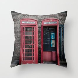 London Red Telephone Boxes Throw Pillow