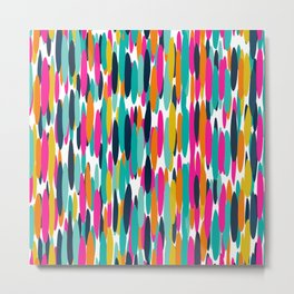 Colorful Stripes, Fun Art, Colourful Prints, Abstract Art Metal Print