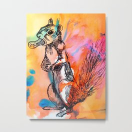 Pop art squirrel Metal Print