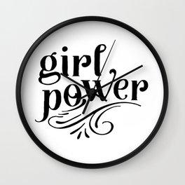Girl power, empower girl print, GRL PWR, Feminist Art, Feminist Print, Feminist Quote, Minimalist Wall Clock