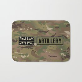 British Flag: Artillery (Camo) Bath Mat