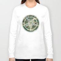 pentagram Long Sleeve T-shirts featuring Pentagram Camo by Parin Cashmony