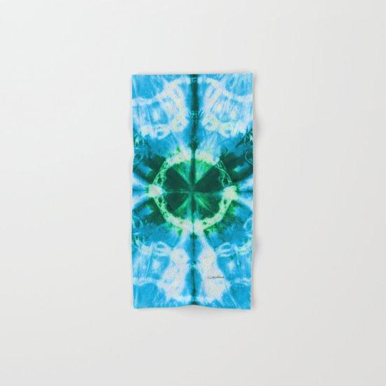 Boho Blue Bloom Hand & Bath Towel