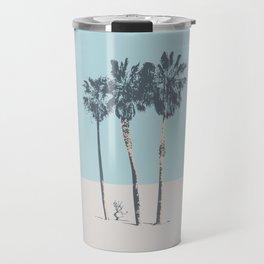 Palm trees on a solitary beach Travel Mug