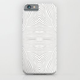 Boho, Safari, African, Pattern, Gray and White iPhone Case