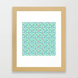 Party stars Framed Art Print