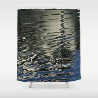 Liquid Silver  Shower Curtain