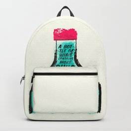 Louis Pasteur quote on wine Philosophy and books, inspirational saying, motivational sentence Backpack
