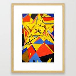 Abstract Geometric Star Framed Art Print