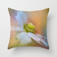 the strokes Throw Pillows featuring Bold Strokes by Teresa Pople