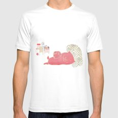 Pig MEDIUM Mens Fitted Tee White