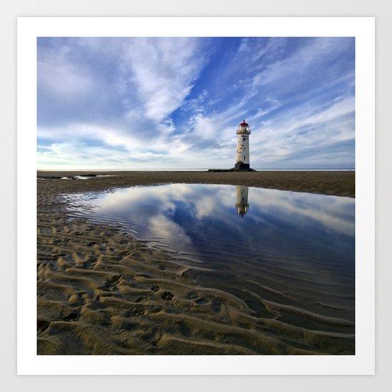 Lighthouse squared Art Print