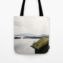 Fairy Dust - Moss Covered Tiny House Iceland Tote Bag
