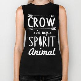 Crow Is My Spirit Animal Biker Tank