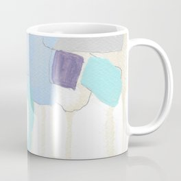 stone by stone 2 - abstract art fresh color turquoise, mint, purple, white, gray Coffee Mug