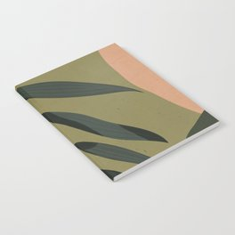 Tropical Leaf- Abstract Art Notebook