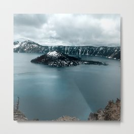 Mountain Lake View Metal Print