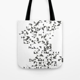 TRIANGLES B&W Geometric print Tote Bag