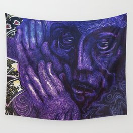 Purple Magician Wall Tapestry