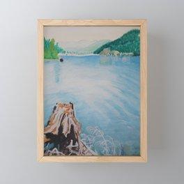 Oakridge Reservoir #4 watercolor painting Framed Mini Art Print
