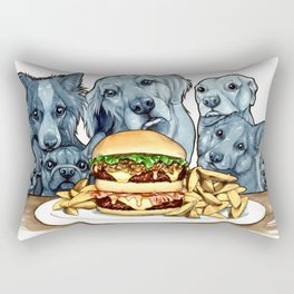 Burger Dogs Rectangular Pillow