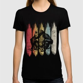 Vintage Chimpanzee Lover Retro Chimp Silhouette Gift graphic T-shirt