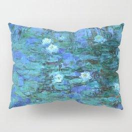 Claude Monet Water Lilies BLUE Pillow Sham