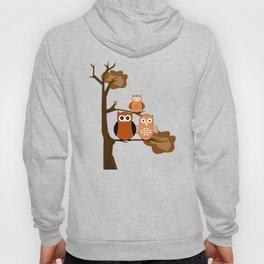 Orange Owls Hoody