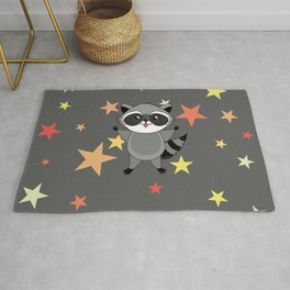 Kawaii raccoon Rug