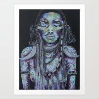 Midnight Warrior Art Print