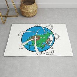 Jets Circling the Globe Rug