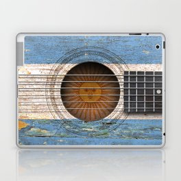 Old Vintage Acoustic Guitar with Argentine Flag Laptop & iPad Skin