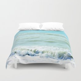 frothy surf (thank you, moon) Duvet Cover