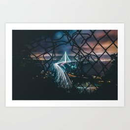 City trough fence Art Print
