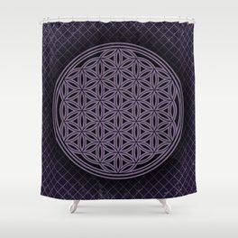 Purple Flower of Life Shower Curtain