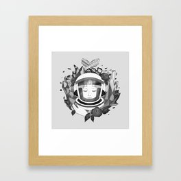 Pearl Space Race - BnW Framed Art Print