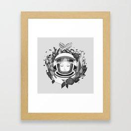 Pearl Space Race - BnW Framed Art Print