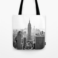 city Tote Bags featuring New York City by Studio Laura Campanella