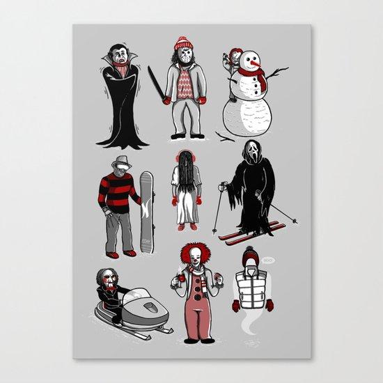 Horror lives winter Canvas Print