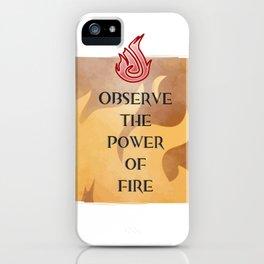 Fire Attunement iPhone Case