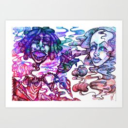 Fun Times with Mary Jane 3 Art Print