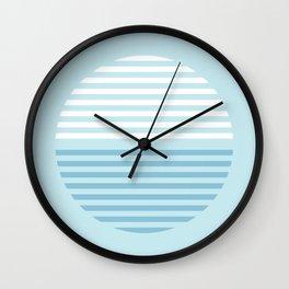 Horizons Summer Blues - Turquoise Wall Clock