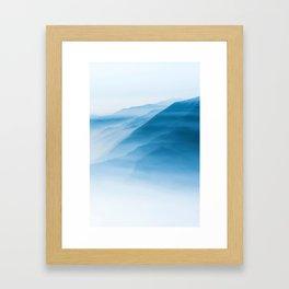 Snowy Blue Mountains (Color) Framed Art Print